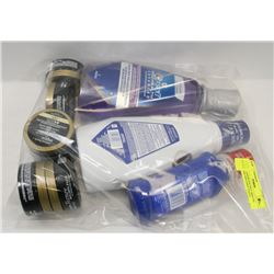BAG OF ASSORTED INCL MOUTH WASH AND MOLDING PASTE.