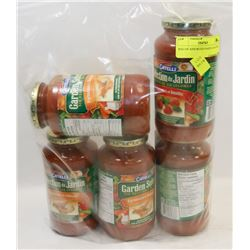 BAG OF ASSORTED PASTA SAUCES.