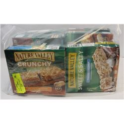 LOT OF 7 NATURE VALLEY GRANOLA BARS.