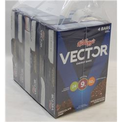 LOT OF 6 VECTOR CHOCOLATE CHIP BARS.