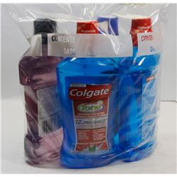BAG OF MOUTHWASH INCL COLGATE AND MORE.