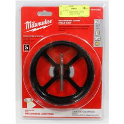 """MILWAUKEE RECESSED LIGHT HOLESAW 5 AND 3/8"""" FOR"""