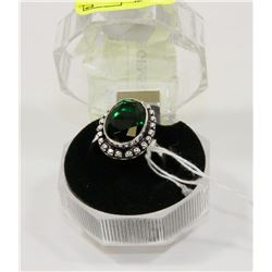 #87-CHROME DIOPSIDE GEMSTONE RING