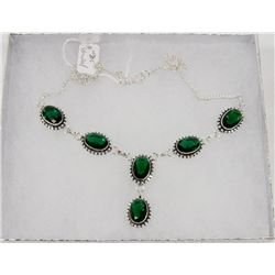 #89-CHROME DIOPSIDE GEMSTONE NECKLACE