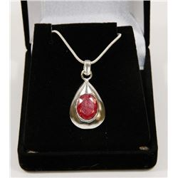 #53-NATURAL RED RUBY GEMSTONE PENDANT
