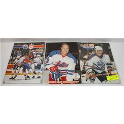 LOT OF 3 OILER PROGRAMS WHA GRETZKY 7PTS GAME