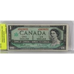 1967 CANADIAN CENTENNIAL ONE DOLLAR BANKNOTE WITH
