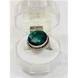 #128-GREEN CHROME DIOPSIDE RING