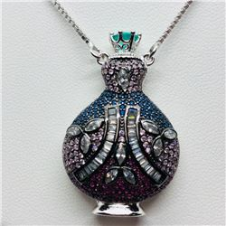 3) STERLING SILVER PERFUME HOLDER NECKLACE