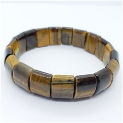 15) TIGER'S EYE FLEXIBLE BRACELET