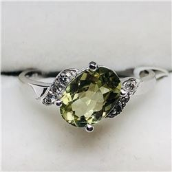 23) 10K COLOR CHANGING SULTANITE & DIAMOND RING