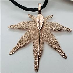 79) FASHION JEWELRY NATURAL LEAF NECKLACE