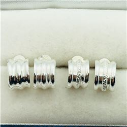 107) 2 PAIRS OF STERLING SILVER EARRINGS