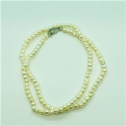 109) STERLING SILVER FRESHWATER PEARL NECKLACE