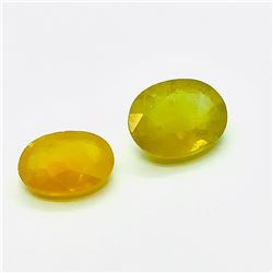 111) ENHANCED YELLOW SAPPHIRE