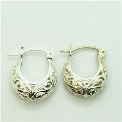 122) STERLING SILVER EARRINGS