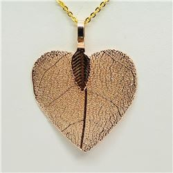 131) NATURAL LEAF NECKLACE