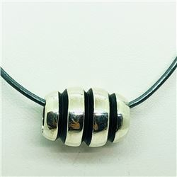 149) STERLING SILVER BEAD NECKLACE