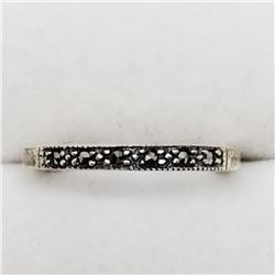 170) STERLING SILVER MARCASITE RING