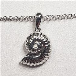 189) STERLING SILVER CUBIC ZIRCONIA NECKLACE