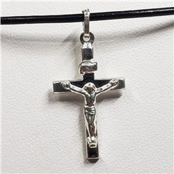 191) STERLING SILVER CROSS NECKLACE