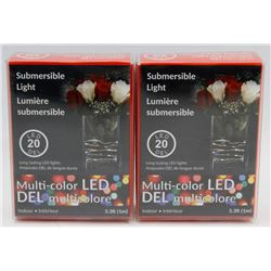 NEW! LOT OF 2 MULTI-COLOR LED SUBMERSIBLE LIGHT