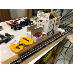 ASSORTED WAREHOUSE SUPPLIES INC. TAPES, LABEL GUNS AND MORE