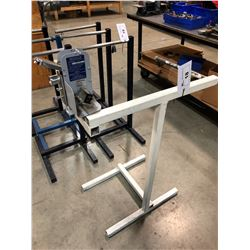 WIRE STAND WITH OLYMPIX MODEL 1410 WIRE LENGTH METER
