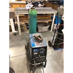 MILLER MILLERMATIC 140 AUTO-SET WIRE WELDER WITH CART, TANK NOT INCLUDED