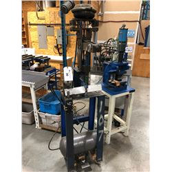 PNEUMATIC PUNCH TOOL ON STAND