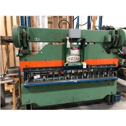 HEIM MODEL 45-8 8' 45 TON CAPACITY BRAKE PRESS, PUNCHES/DIES NOT INCLUDED, BUYER RESPONSIBLE FOR