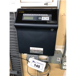OWL MODEL CP-3000 TIME CLOCK WITH PUNCH CARD RACK