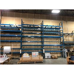 3 BAY ROW OF 24' HEAVY DUTY PALLET RACKING, WITH 1 BAY OF 16' RACKING