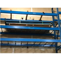 LOT OF HEAVY DUTY PALLET RACKING PARTS ON PALLET