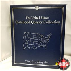 USA Statehood Quarter Collection (binder), Volume I, 25 BU coins sealed in Commemorative Collectible