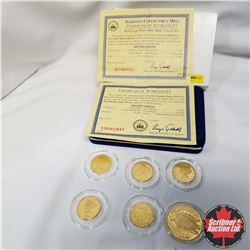 USA National Collectors Mint Half Eagle Proof Mint Mark Tribute Set, Replica coins:  1795, 1841, 186