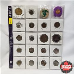 Sheet of 20 Coins & Tokens - Variety !