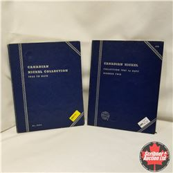 Canadian Nickel Collection 1922-1981 in 2 Whitman folders (not there: 1925;1926N6; 1926F6; 1954; 195