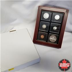 1961 Canada Silver PL Coins in Display Box, $1, 50¢, 25¢, 10¢, 5¢, 1¢
