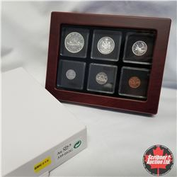 1963 Canada Silver PL Coins in Display Box, $1, 50¢, 25¢, 10¢, 5¢, 1¢