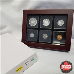 1964 Canada Silver PL Coins in Display Box, $1, 50¢, 25¢, 10¢, 5¢, 1¢