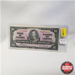 1937 Bank of Canada $10 Bill, J/T1514892, Coyne/Towers