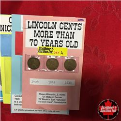 Variety Coinage: Lincoln Cents(3); Canada Large Cent 1911, Canada Dollars 1971 & 1986