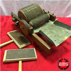 Wool Carders & Table Top Rotating Wool Carder