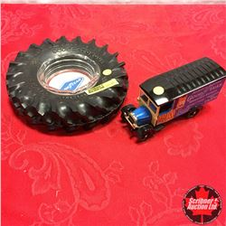Good Year Tire Ashtray & Delivery Toy Truck