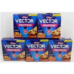 FIVE ASSORTED BOXES OF VECTOR MEAL BARS