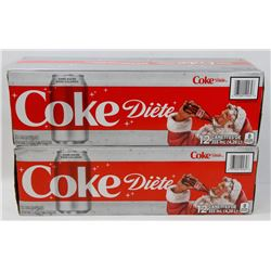 TWO 12PACK CASES OF DIET COKE