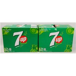TWO 12 PACK CASES OF 7UP