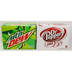 12 PACK CASE OF MTN DEW SOLD WITH 12 PACK CASE OF