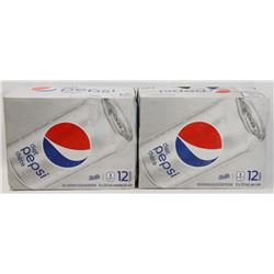 TWO 12 PACK CASES OF DIET PEPSI